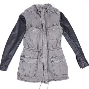 Aritzia Talula Balfour utility jacket, grey